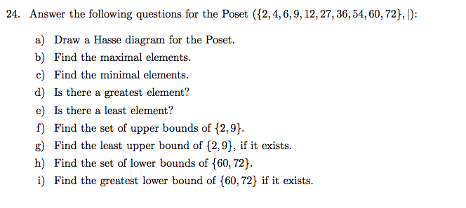 Solved 24 answer the following questions for the poset 24 answer the following questions for the poset 1246 ccuart Image collections