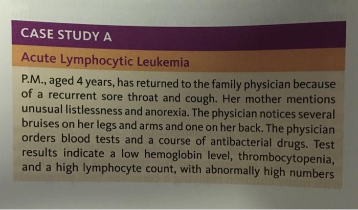 Case Study # 85 Acute Lymphoblastic Leukemia (ALL ...