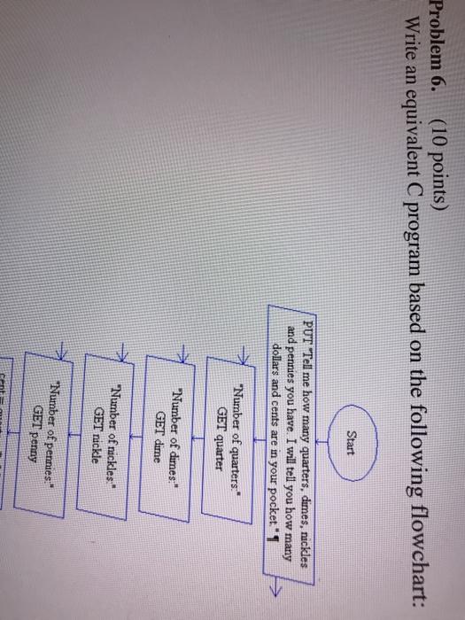 Solved Problem 6 10 Points Write An Equivalent C Progr Chegg Com