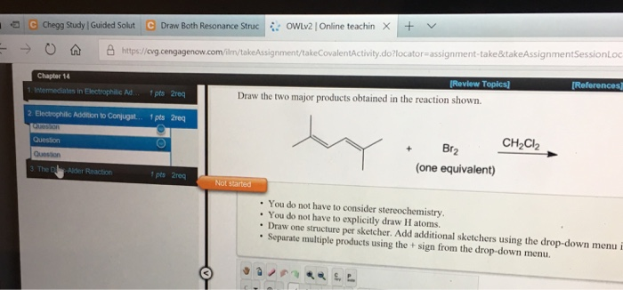 Solved: I: OwLV2 L Online Teachin X-+ G Chegg Study : Guid
