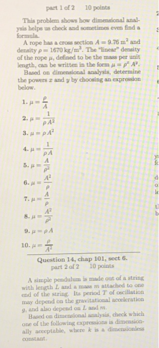 Solved Part 1 Of 2 10 Points This Problem Shows How Dimen
