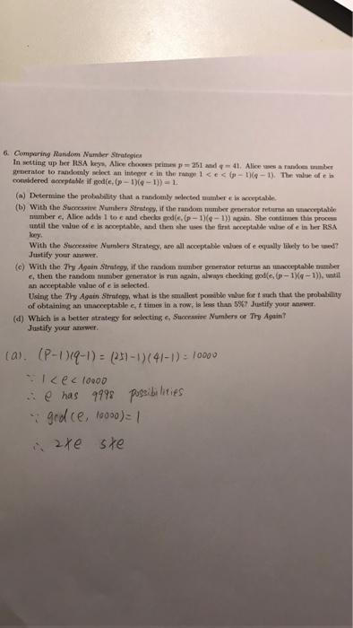 Solved: 6  Comparing Random Number Strategies In Setting U