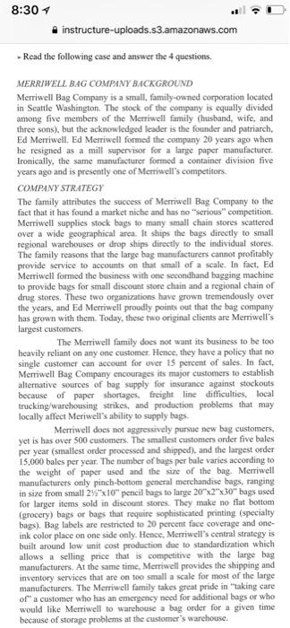 merriwell bag company