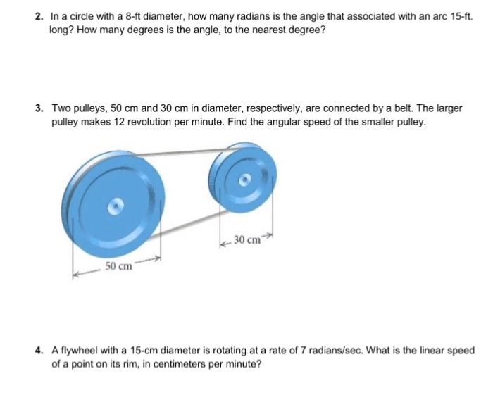 In A Circle With A 8 Ft Diameter How Many Radians Is