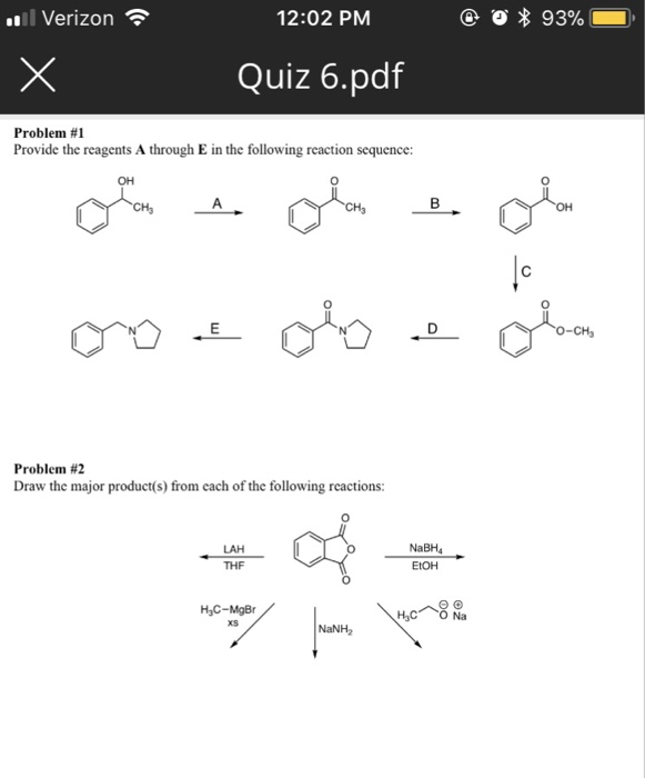 Solved: Verizon 12:02 PM Quiz 6 pdf Problem #1 Provide The