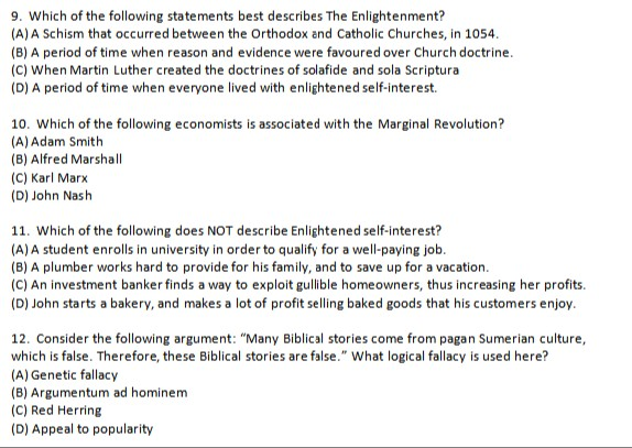 Solved: 9  Which Of The Following Statements Best Describe