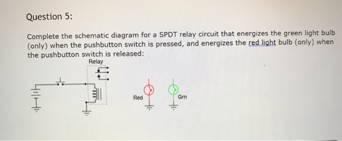 Peachy Solved Question 5 Complete The Schematic Diagram For A S Wiring Database Aboleterrageneticorg