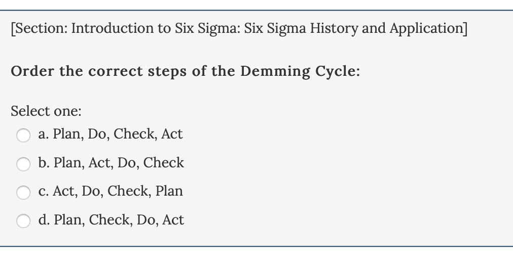 Solved: Section: Introduction To Six Sigma: Other Process