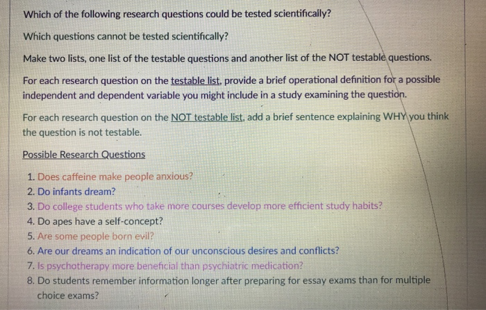 Business Argumentative Essay Topics Which Of The Following Research Questions Could Be Tested Scientifically  Which Questions Cannot Be Tested Thesis Statement For Analytical Essay also Topics For English Essays Solved Which Of The Following Research Questions Could Be  An Essay On Health
