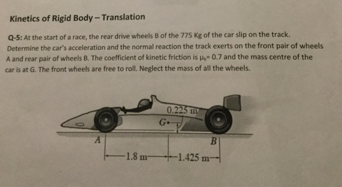 Solved: At The Start Of A Race, The Rear Drive Wheels B Of