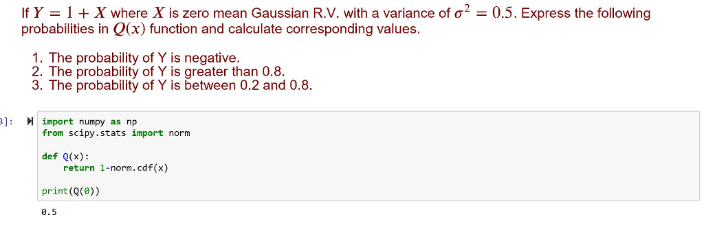 Solved: If Y = 1 X Where X Is Zero Mean Gaussian R V  With