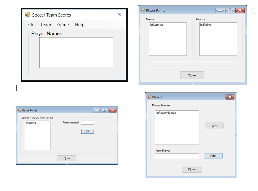 Solved: Visual Basic Suppose A Soccer Team Needs An Applic