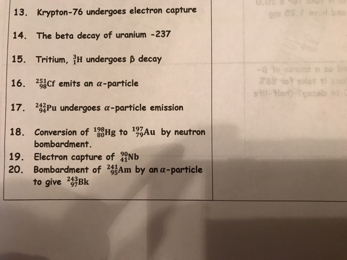 uranium beta decay