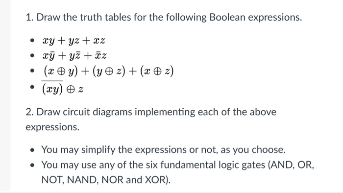 Outstanding Solved 1 Draw The Truth Tables For The Following Boolean Wiring Digital Resources Remcakbiperorg