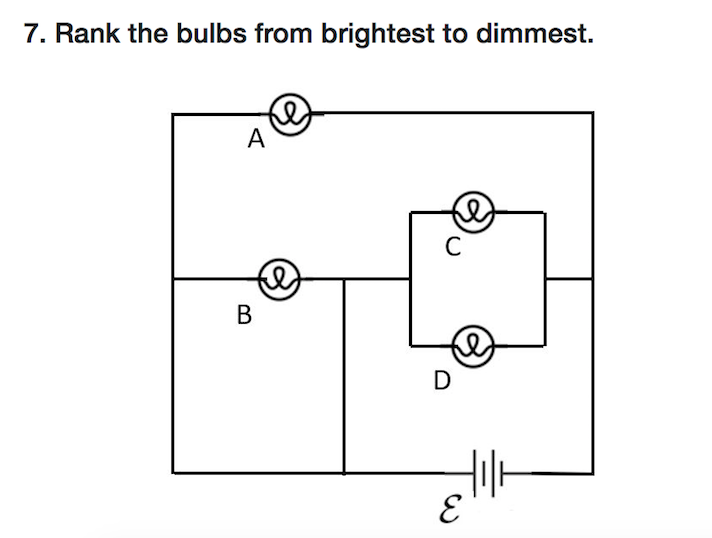 Solved: 7. Rank The Bulbs From Brightest To Dimmest ...