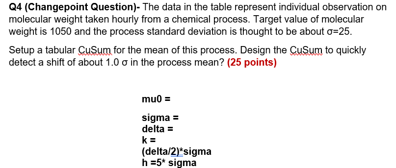 Solved: Q4 (Changepoint Question)- The Data In The Table R
