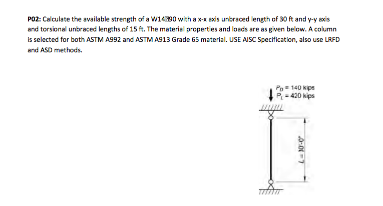 Solved: PO2: Calculate The Available Strength Of A W14290