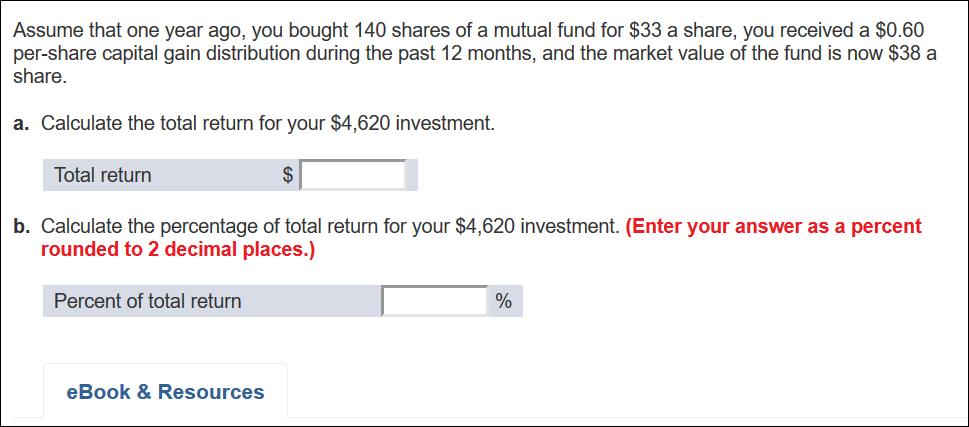 Solved: Assume That One Year Ago, You Bought 140 Shares Of