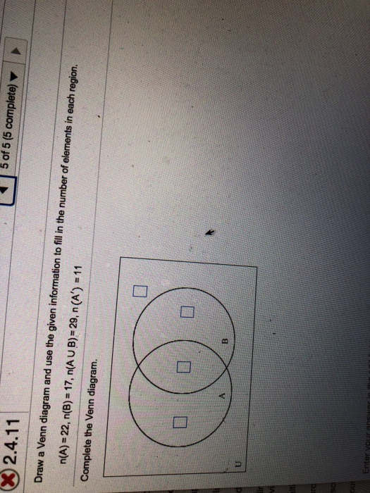 Solved Ll 1 50155 Complete 32411 Draw A Venn Diagra