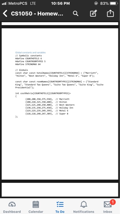 Solved: CODE IN C TEMPLATE