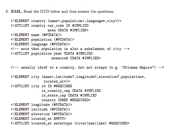 2  XML  Read The DTD Below And Then Answer The Que