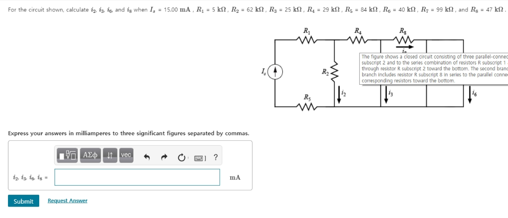 Solved: For The Circuit Shown, Calculate 2, 휑 Io And I8 W
