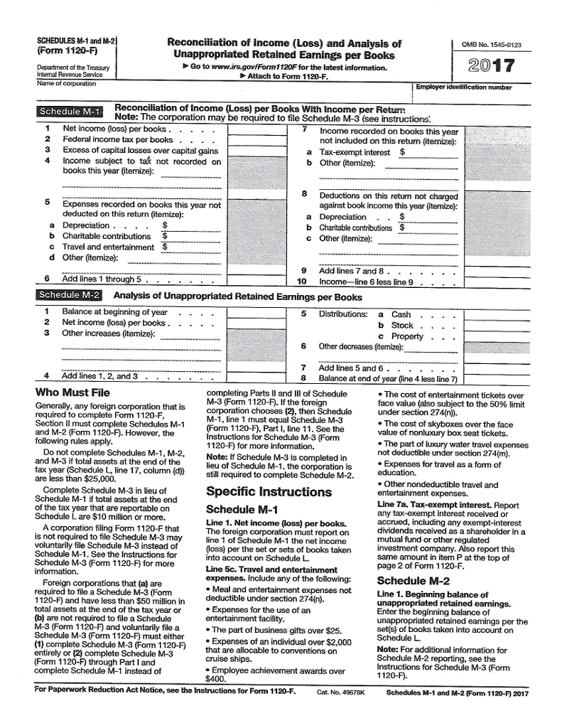 Amazing Irs Form 1120f Image Collection Form Examples Strenght