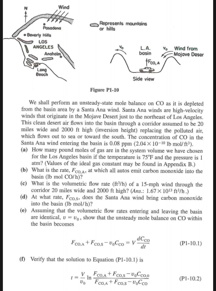 Solved B Schematic Diagrams Of The Los Angeles Basin Are