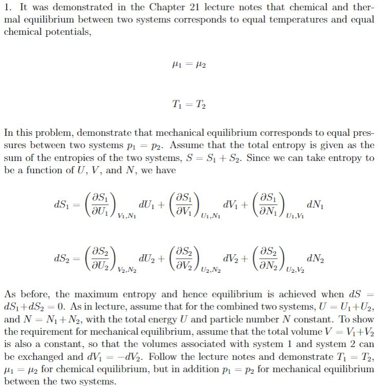Solved:   It Was Demonstrated In The Chapter 21 Lecture No