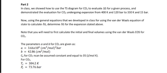 part 2 in class, we showed how to use the ts diagram for co2 to