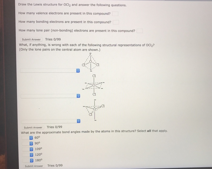 choose the best lewis structure for ocl2