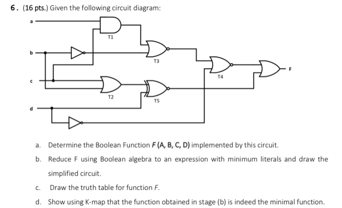 Solved  6   16 Pts   Given The Following Circuit Diagram