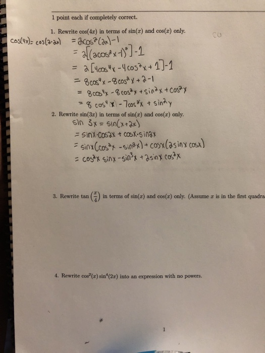 Solved: I Was Doing The First Two And I Would Like If Some... | Chegg.com