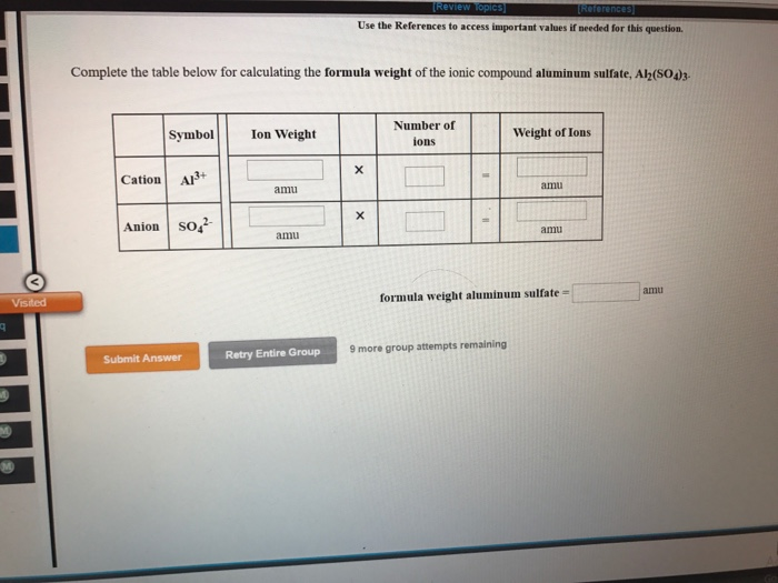 Solved 10f This Question Complete The Table Below For Ca