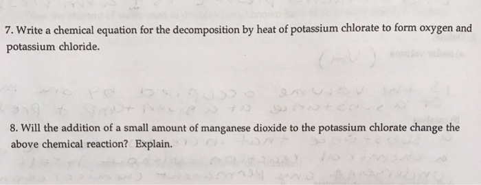 Solved: Write A Chemical Equation For The Decomposition By
