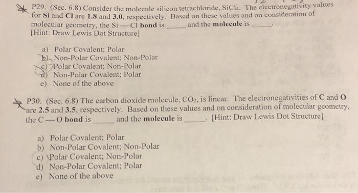 P29 Sec 68 Consider The Molecule Silicon Tetr Chegg