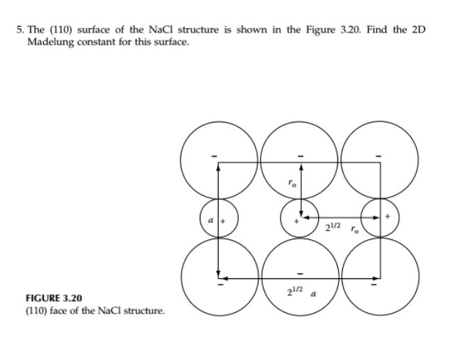 Solved: 5  The (110) Surface Of The NaCl Structure Is Show