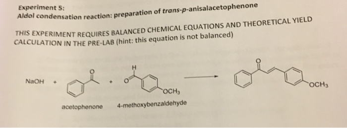 aldol condensation balanced equation