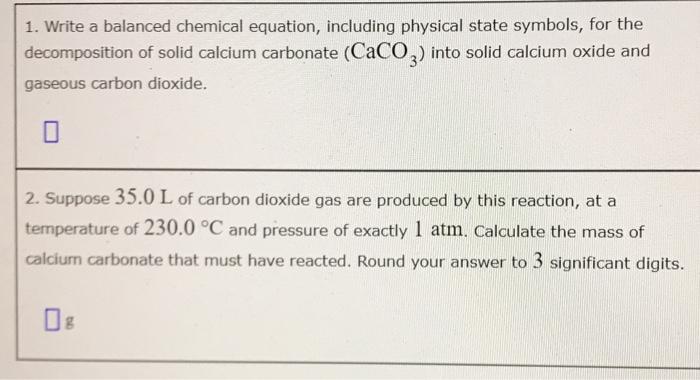 Solved 1 Write A Balanced Chemical Equation Including P