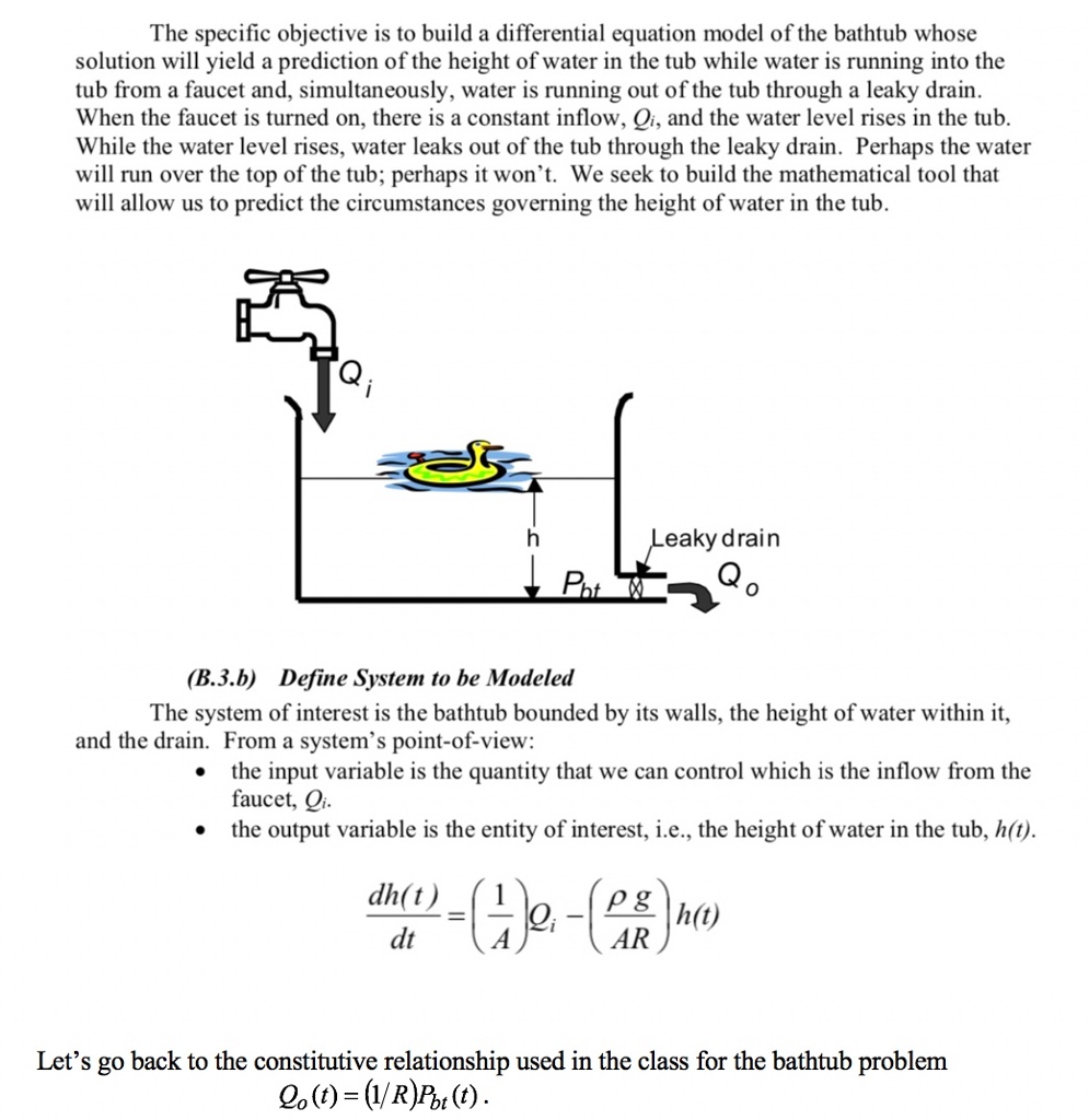 Solved: Reformulate The System Differential Equation Using ...