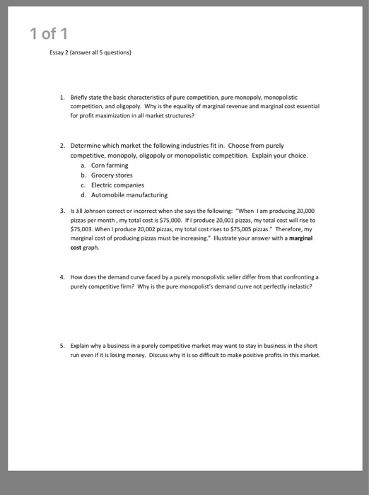 Solved  Of  Essay  Answer All  Questions  Briefly   Of  Essay  Answer All  Questions  Briefly State The Basic Science And Technology Essay Topics also Health Insurance Essay  Help Doing A Literature Review