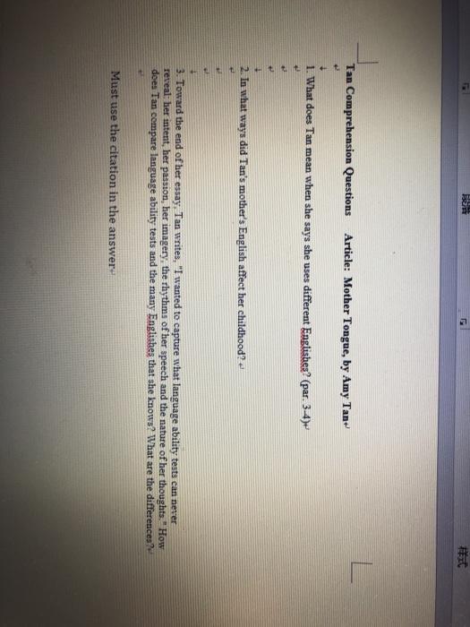 amy tan mother tongue essay