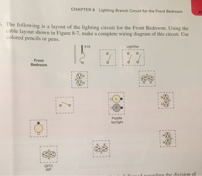 Solved Chapter 8 Lighting Branch Circuit For The Front Be