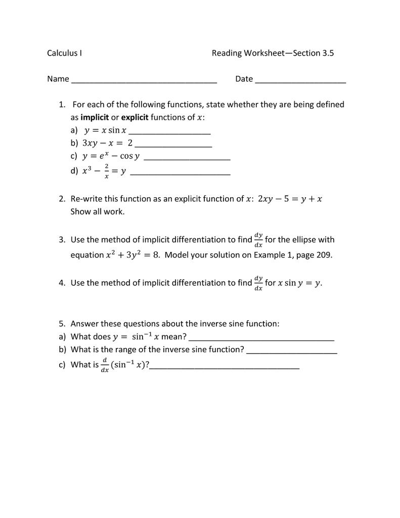 Kim Klinger Logan as well Solved  Calculus I Reading Worksheet Section 3 5 Name Date additionally Chain Rule   Implicit Differentiation Worksheet likewise Implicit differentiation  practice    Khan Academy further Lesson  49 additionally Basic Calculus Derivatives Worksheet   Free Printables Worksheet furthermore Parametric and implicit differentiation by SRWhitehouse   Teaching besides Implicit Differentiation Lesson   Calculus College likewise Implicit Differentiation Worksheet   Homedressage likewise Calculus   Implicit Differentiation  solutions  ex les  videos besides World Web Math  Implicit differentiation furthermore Implicit Differentiation Worksheet   holidayfu as well Differentiation and Applications   MATH100 Revision Exercises additionally Worksheet Implicit III   AP Calc AB Worksheet III Implicit additionally Solved  1   112 Points My Notes In This Worksheet  You'll besides World Web Math  Implicit differentiation. on implicit differentiation worksheet with answers