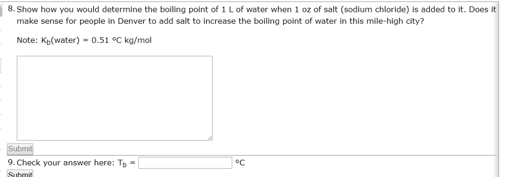 how does salt affect boiling point