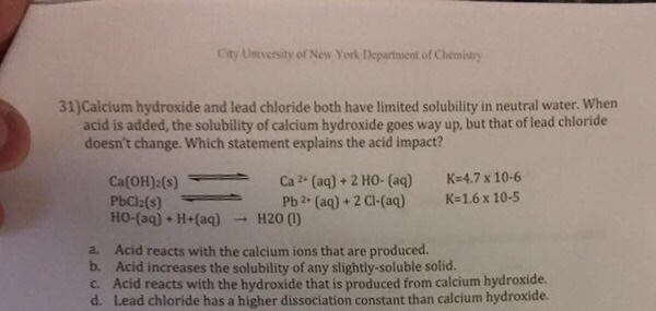 determination of solubility constant of calcium hydroxide