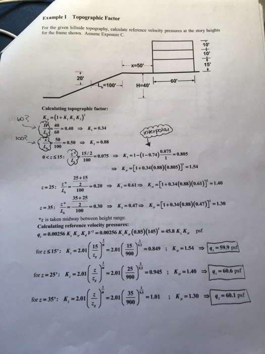 Solved: Calculate The Reference Velocity Pressures St The ...