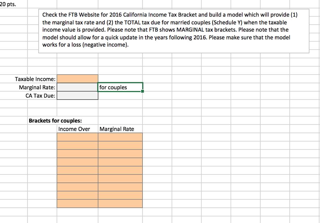 Sensational Solved 20 Pts Check The Ftb Website For 2016 California Home Interior And Landscaping Ologienasavecom