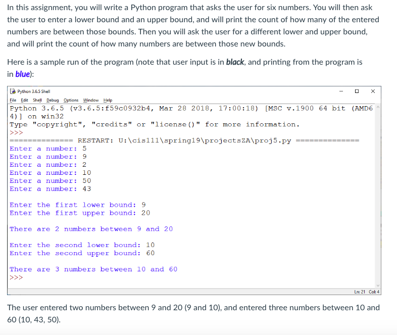 solved in this assignment you will write a python progra