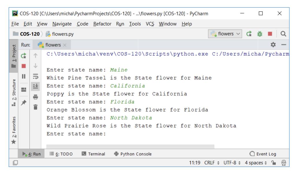Solved: Write A Python Program Called Flowers py That Crea